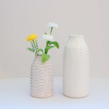 Handmade antique white ceramic flower vase,wedding vase