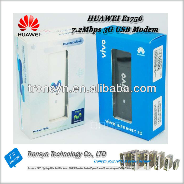 Low Price Original HSDPA 7.2Mbps E1756 USB Modem AND 3G USB Modem Support HSDPA/UMTS (850/1800/2100MHz)