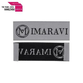 Damask  woven label for garment cotton /garment woven label