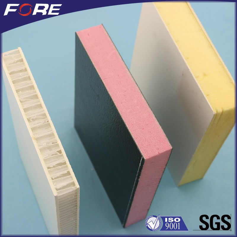 XPS PU Foam Refrigerated Truck Insulated GRP FRP Panel, Insulation RV Side Fiberglass Honeycomb Sandwich Wall Panel For Trailer