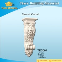 Low price high quality PU carved corbels for home plans