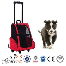 Premium Quality Pet Travel Tote Rolling Backpack Dog Pet Carrier