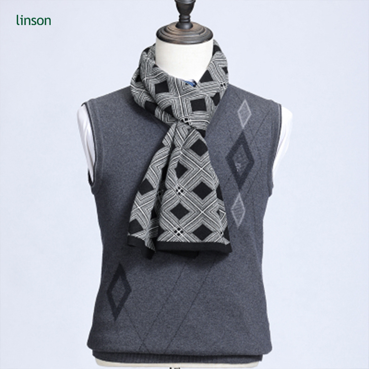 Fashion Cashmere Feel pashmina scarf Men Winter plaid blanket Scarf