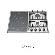 GSN59-7 Hot sale Stainless Steel plate cast iron support 4 burner built in electric gas cooker kitchen stove