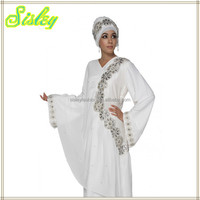 New Stlyes Dubai Batwing Abaya With Hijab Bridal Angel Abaya muslim dress islamic clothing
