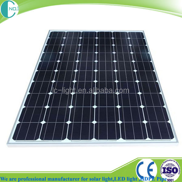 Mono crystalline photovoltaic cell solar panel 150 watt for solar lighting system