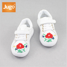 Manufacturer China Hot Retro Embroidered Kids Shoes Girl Casual Wholesale