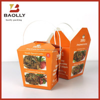 Fast Food Takeaway Food Container With Sealed Lid Factory Price Paper Packing