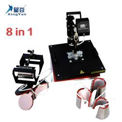 8 in 1 sublimation 8 in 1 combo sublimation heat press multifunction 3d printer machine