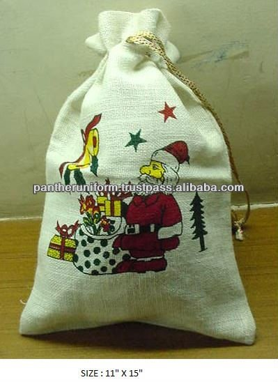 Recyclable Drawstring Jute Gift Packaging Bag