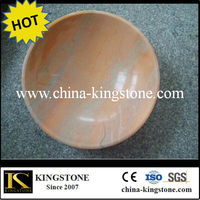 sunset gold Round stone sink basin