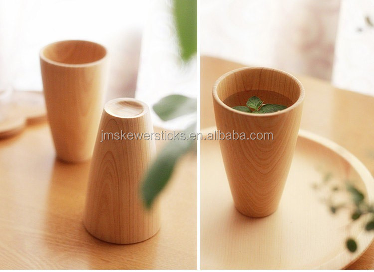 Japanese Style Wooden Water Cups Wooden Tea Cups Buy Hot
