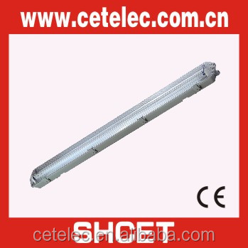 IP65 waterproof fluorescent light fixture with electronic ballast or magnetic ballast