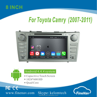"8"" Android 4.4.4 Car DVD player with Quad core 1024*600 Resolution 16GB Flash Mirror Link for Toyota CAMRY (2007-2010)"
