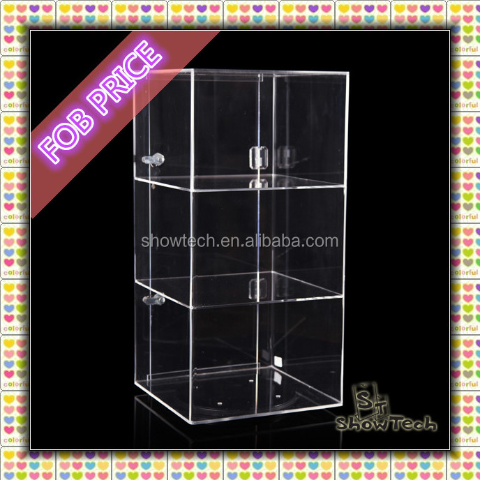 Countertop acrylic rotating display DELUXE Acrylic Locking Display Case