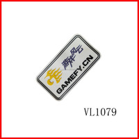 private custom travle clothing silicon rubber label