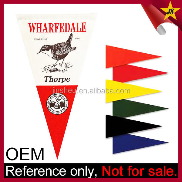 Wholesale Cheap Custom Printed Blank Felt Pennants