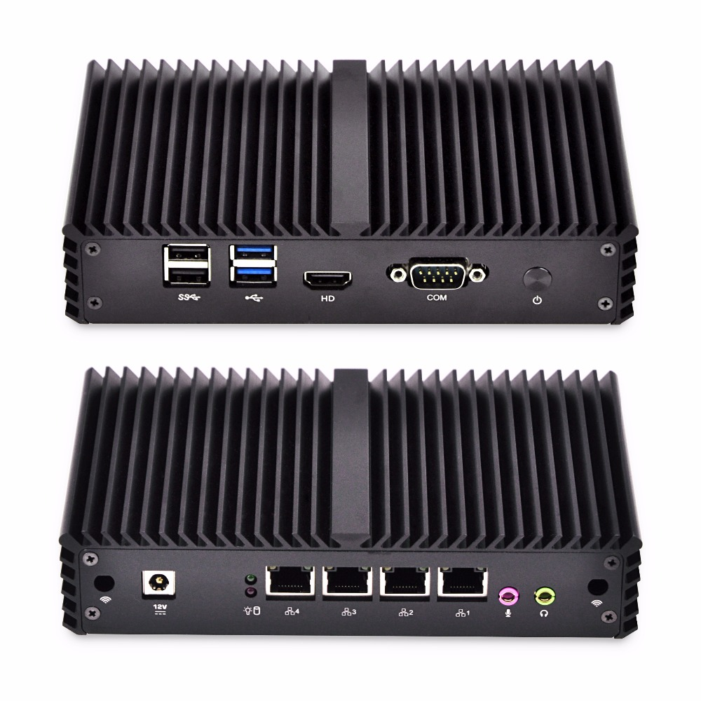 Fanless Mini PC Q335G4-S06 4 Gigabit Lan Ethernet NIC Core i3 security AES-NI Qotom Router Pfsense Firewall