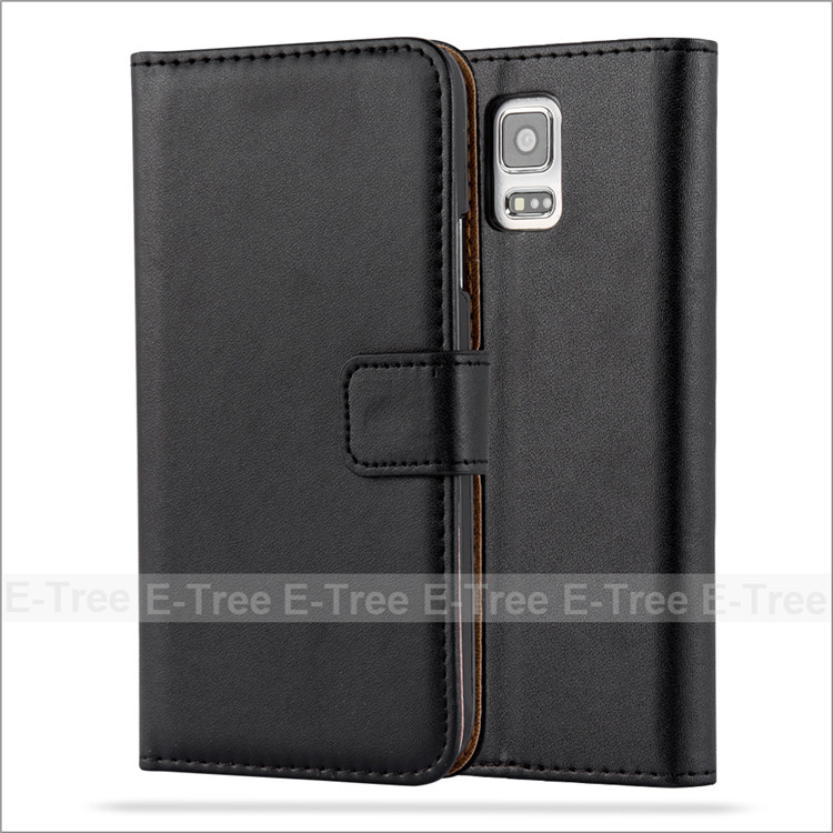 Wholesale Classic Business Style PU Leather Case Hard PC Inside Cover For Samsung Galaxy S5