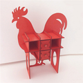 new design art minds laser cut unfinished solid wood toy roosters