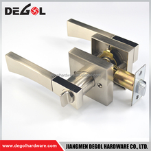 Classical double lever door handle lock solid zinc alloy brushed nickel italy hotel door handle locks