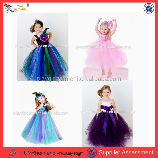 Beautiful fashion kids puffy girl dress TUTU dress PGGD-0374