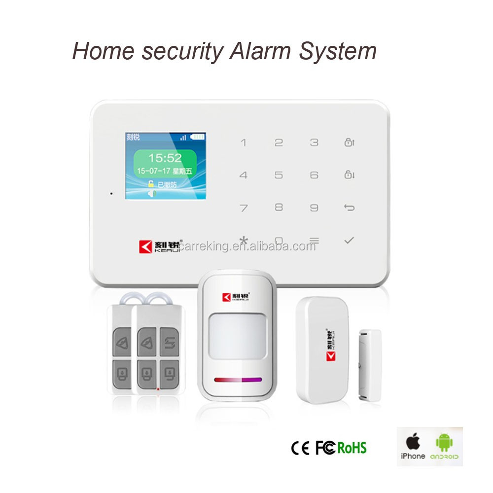 Smart Home Security wireless auto dial alarm system GSM Alarm System work with ip camera