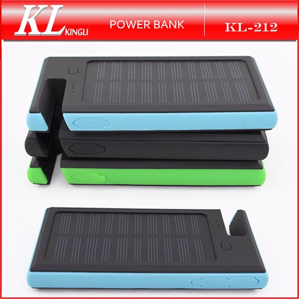 6000mAh Waterproof Solar Power Bank Solar Panel For Travel