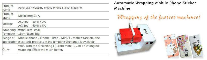 Automatic Wrapping callphone Sticker Machined