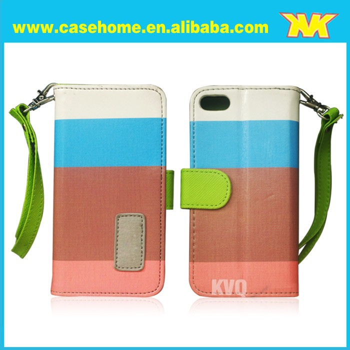 Card Holder Wallet Flip Leather Case Cover Housing Protector For iphone 5s