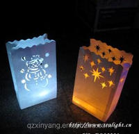 Fireproof Decorative Paper Colored Luminary Candle Bags
