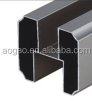 toilet cubicle hardware aluminum head rail top bar profile