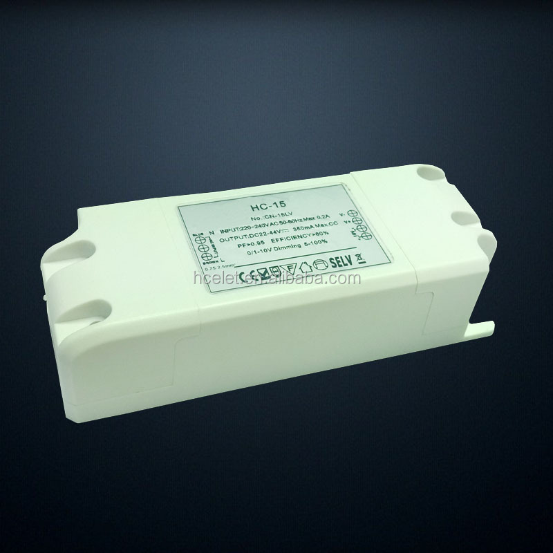 3years warranty 100-240VAC Constant current 27-42v 7w 10w 12w saa 350ma led driver