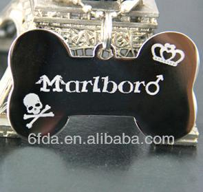 high-quality black crystal dog tag