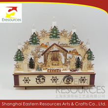 Plywood Laser Cut Christmas Decoration with LED Light