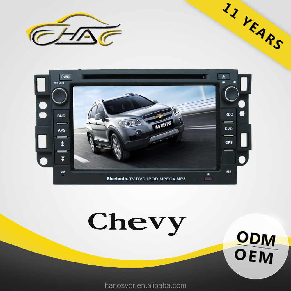 For Touch Screen Car DVD Player With GPS Captiva Chevrolet Automotive GPS Systems Rear-view Camera