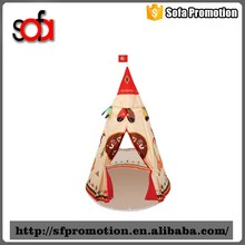 2016 hot popular elegant shape children kids play indian teepee tent