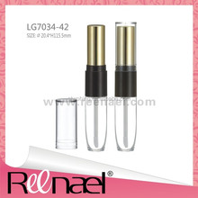 double cosmetic bottle lip stick container Lip gloss container mascara container lipstick container