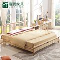 Modern solid wood bedroom furniture single/ double bed designs