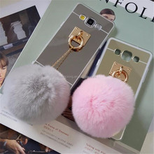 Luxury Fur Ball Case Cover For Samsung Galaxy J1 j1 Ace J2 J3 J5 J7 Case 2015 2016 2017 J120 J320 J510 J710 J520 J720 Case Cover