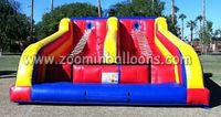 Funny inflatable bungee trampoline with jacob ladders for saleZ5027