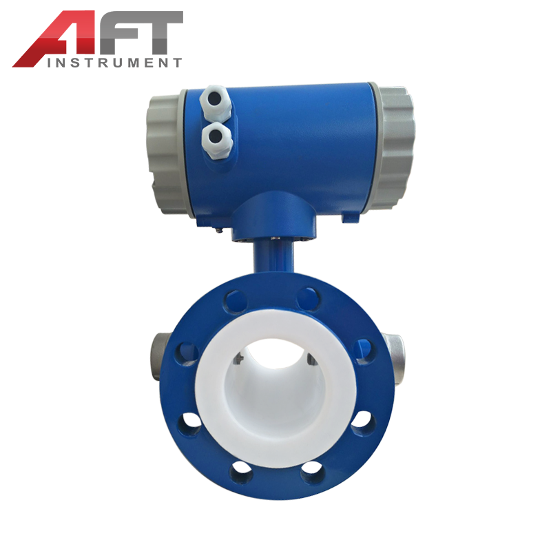 scraper type replaceable electrode electromagnetic flow meter