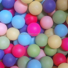 Free Of Shipping Good quality 40mm seamless colored pingpong ball table tennis ball beer pong balls 100pcs pack