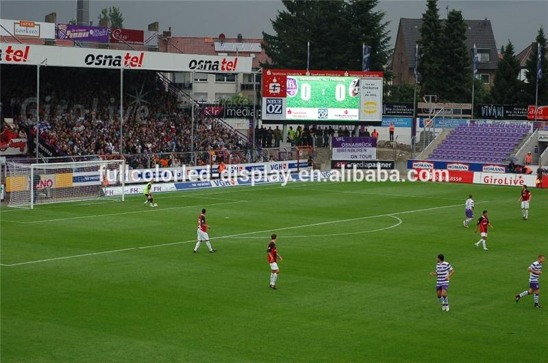 for football court perimeter advertising led display in ali