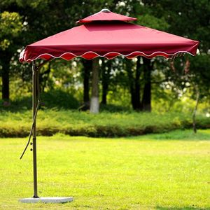 the cheapest double top indian flower beach umbrella promotion with 4 ribs