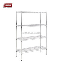 4-Tier Chrome Storage Shelves Heavy Duty Multi-size Steel rack