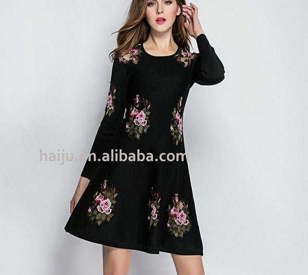European smart softextile sexy mature women party wear one piece dress