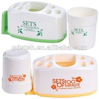 A045 bathroom set plastic cleaning toothbrush holder with a cup bathroom accessory
