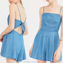 OEM service supply type summer casual womens denim one piece dress