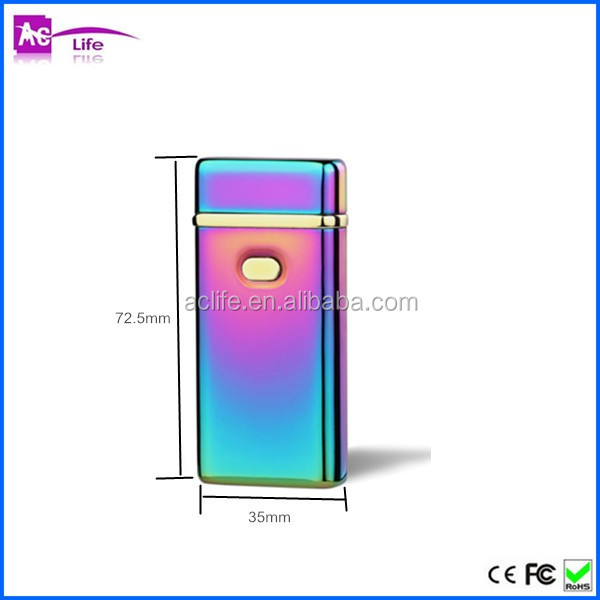 Professional design usb lighters colorful custom electric double arc cigarette lighter